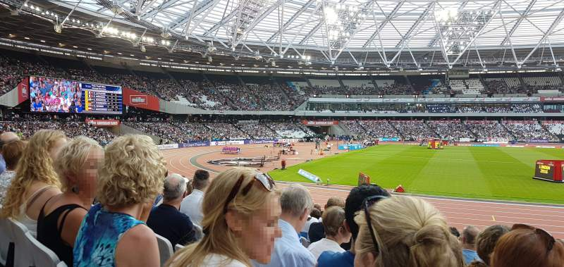Seating view for London Stadium Section 133 Row 16 Seat 341
