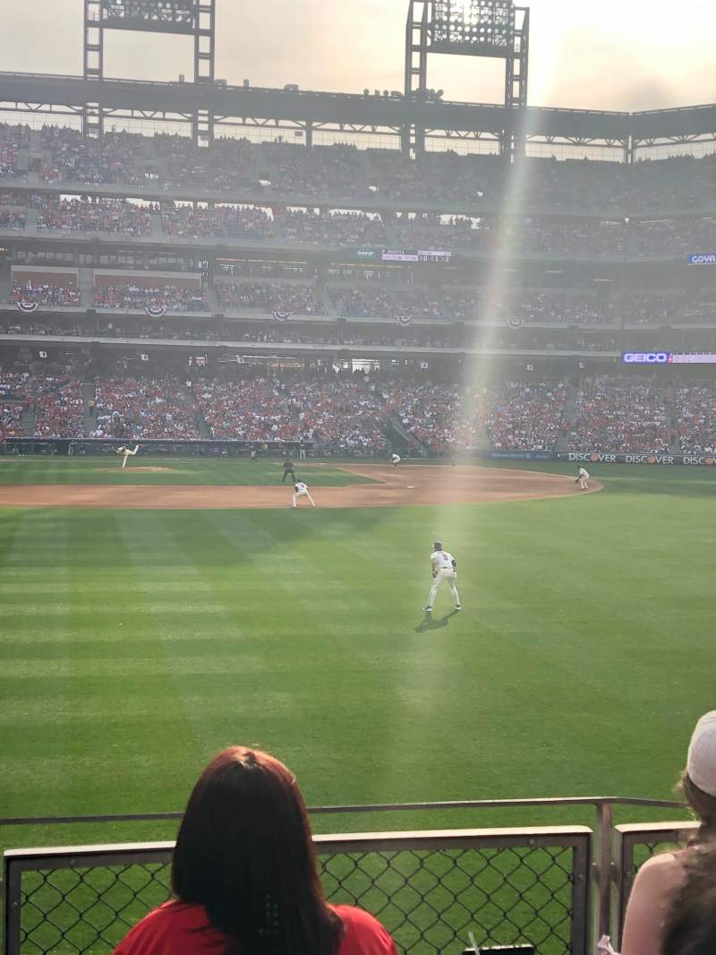 Seating view for Citizens Bank Park Section 106 Row 4 Seat 6