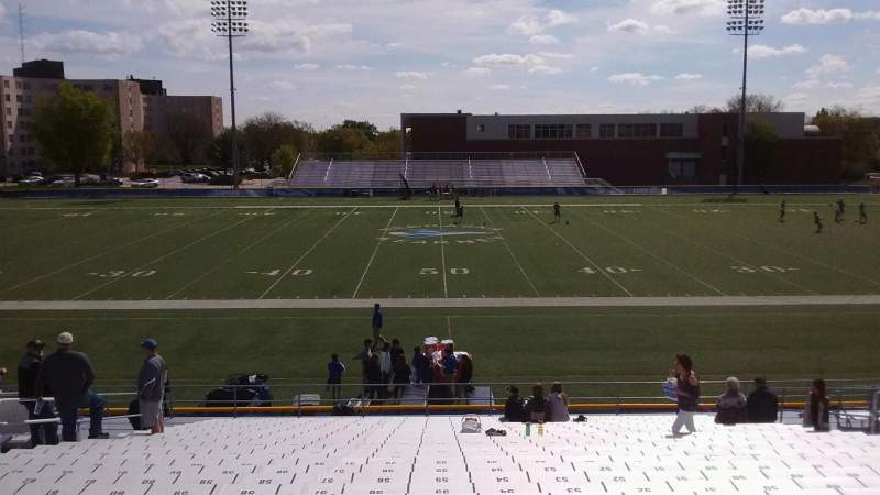 Seating view for Cope Stadium Section C Row 28 Seat 55