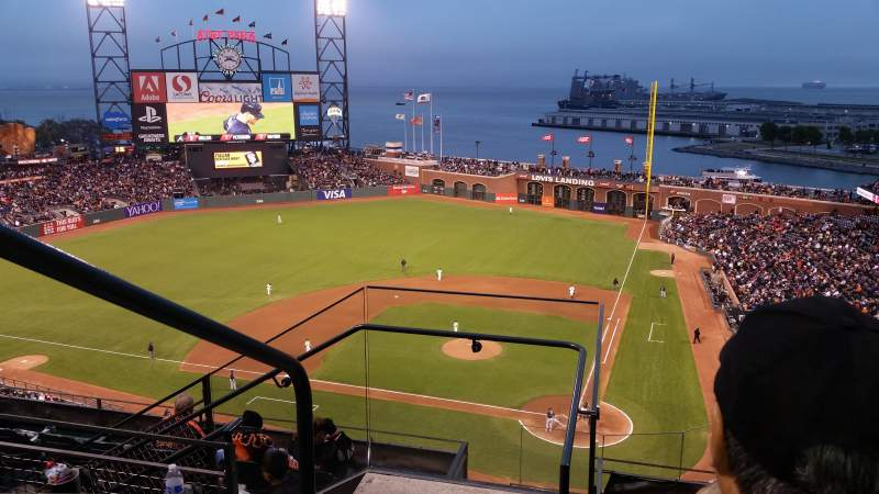 Seating view for AT&T Park Section 319 Row 3 Seat 16