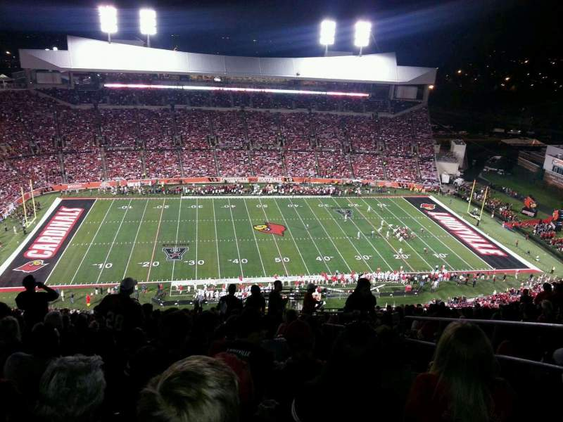 Seating view for Papa John's Cardinal Stadium Section 8 Row AA Seat 103