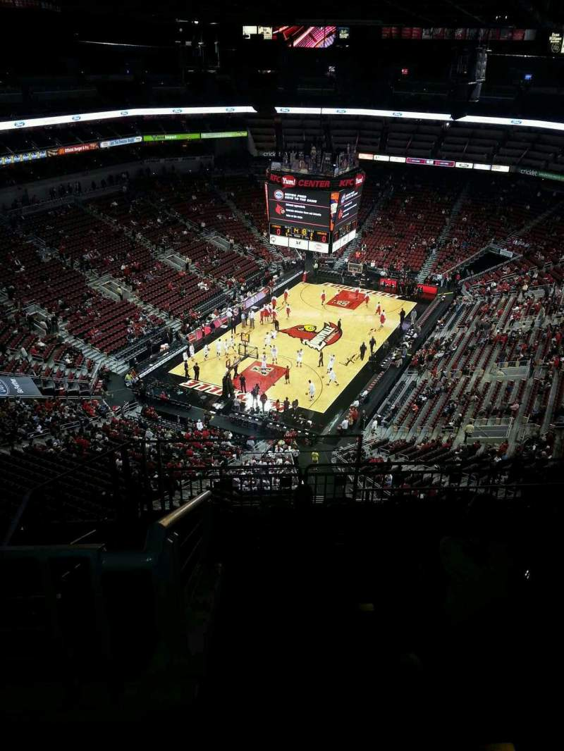 Seating view for KFC Yum! Center Section 313 Row L Seat 18