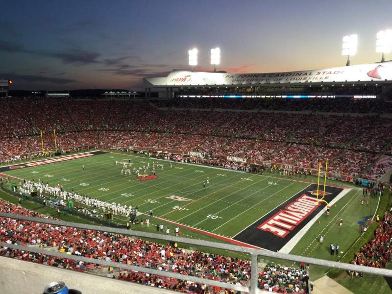 Seating view for Papa John's Cardinal Stadium Section S1 Row A Seat 2