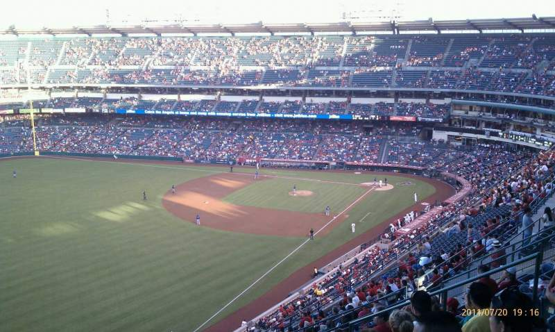Seating view for Angel Stadium Section V505 Row L Seat 12