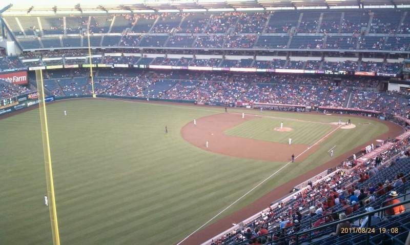 Seating view for Angel Stadium Section 505 Row L Seat 13