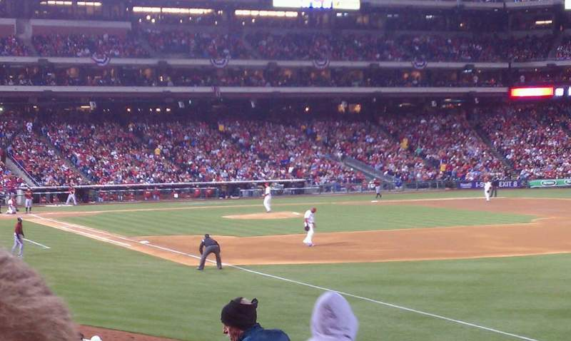 Seating view for Citizens Bank Park Section 109 Row 25 Seat 15