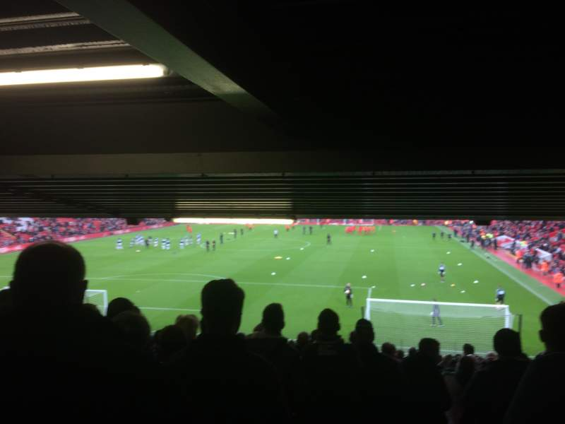 Seating view for Anfield Section 126 Row 34 Seat 159