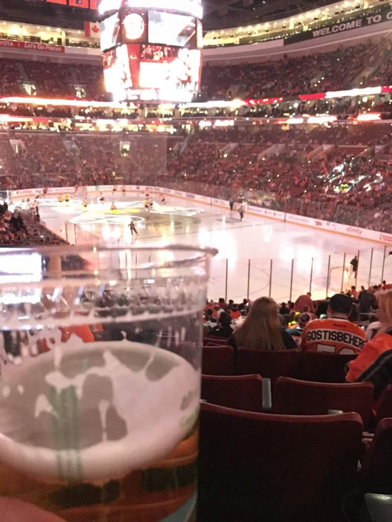 Seating view for Wells Fargo Center Section 105 Row 26 Seat 12