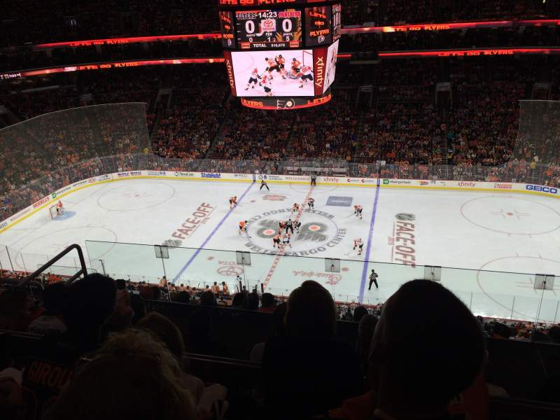 Seating view for Wells Fargo Center Section 202 Row 8 Seat 12