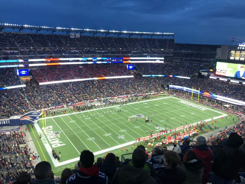 Seating view for Gillette Stadium Section 337 Row 18 Seat 8