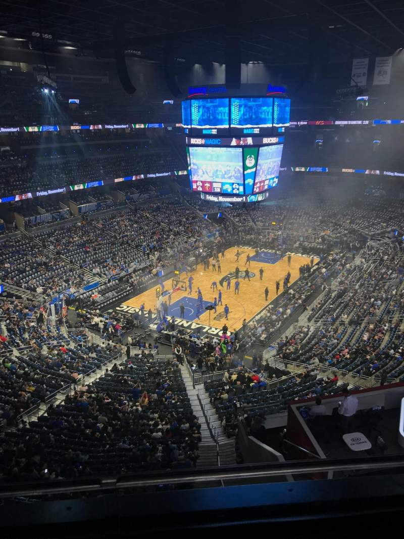 Seating view for Amway Center Section 230 Row 2 Seat 17