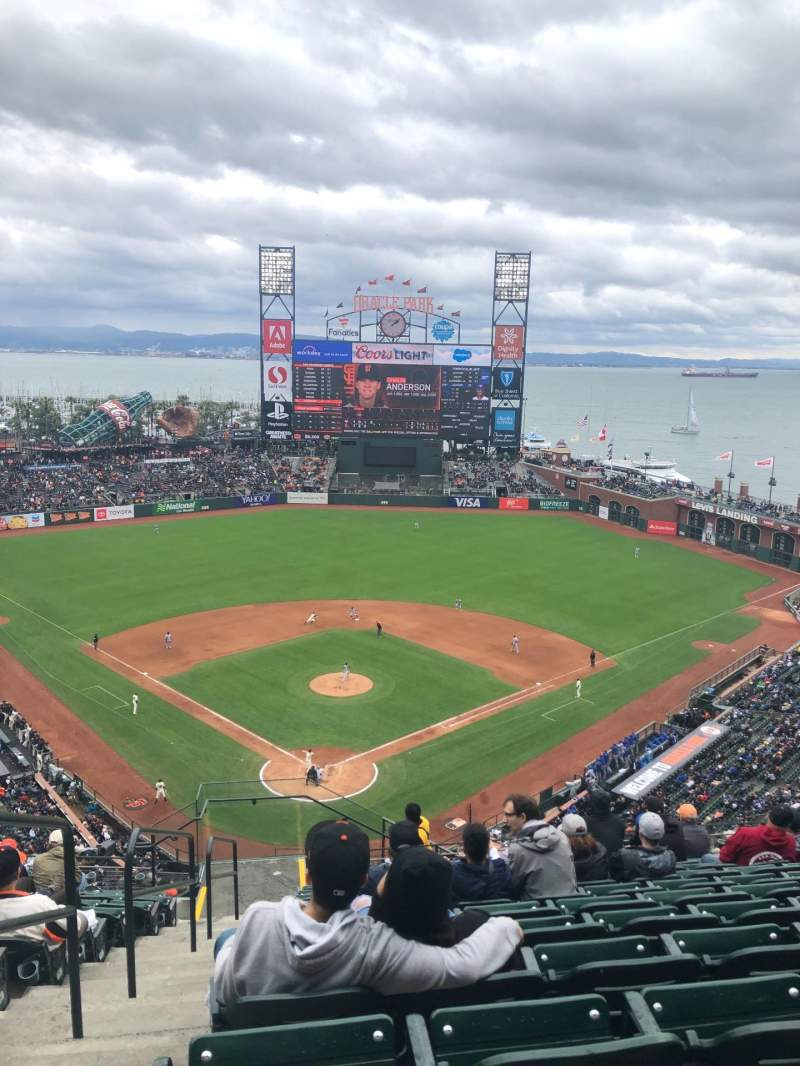 Seating view for Oracle Park Section VR314 Row 12 Seat 28