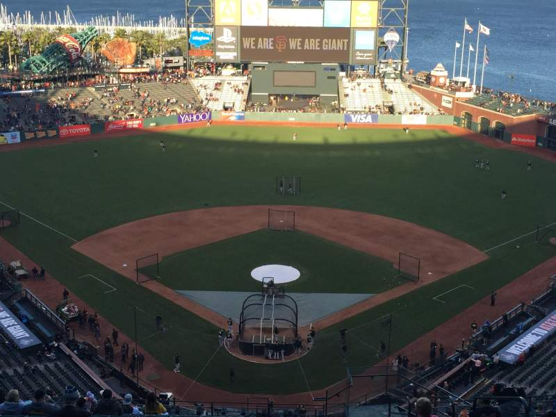 Seating view for AT&T Park Section 315 Row 18 Seat 5