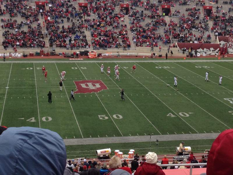 Seating view for Memorial Stadium (Indiana)