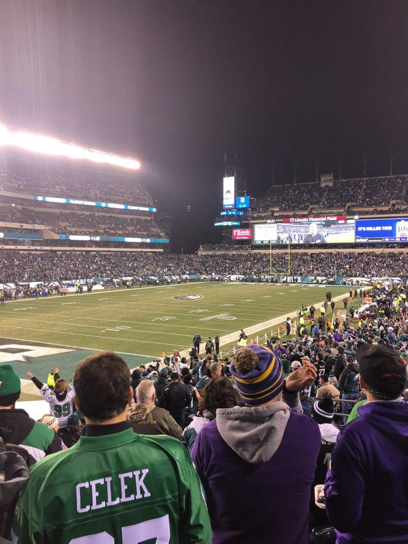 Seating view for Lincoln Financial Field Section 132 Row 26 Seat 15