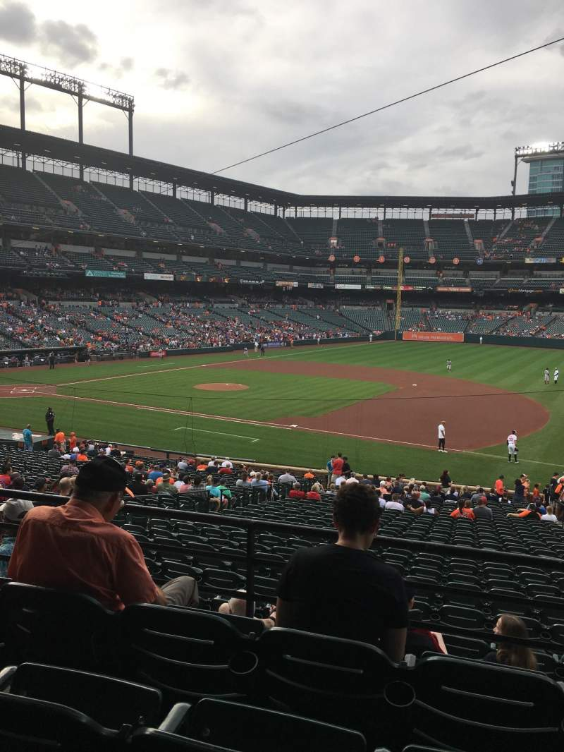Seating view for Oriole Park at Camden Yards Section 15 Row 4 Seat 11