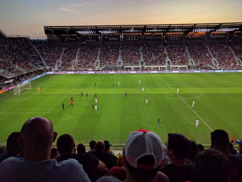 Seating view for Audi Field Section 107 Row 6 Seat 15