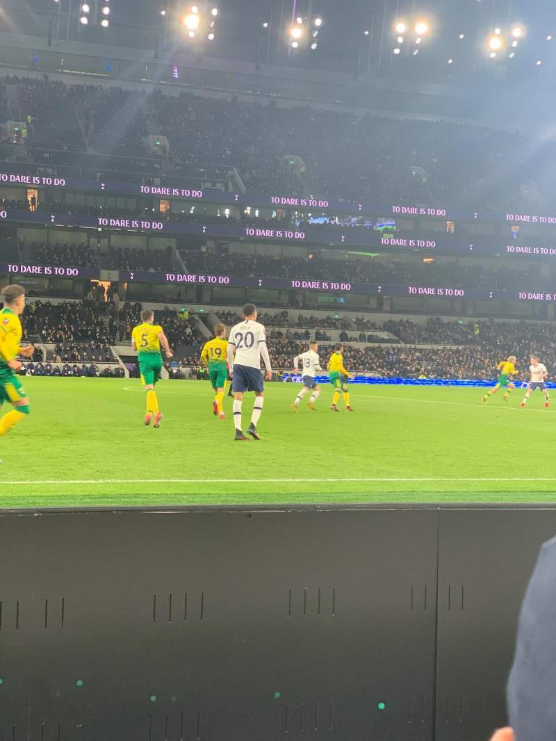 Seating view for Tottenham Hotspur Stadium Section 122 Row 2 Seat 678