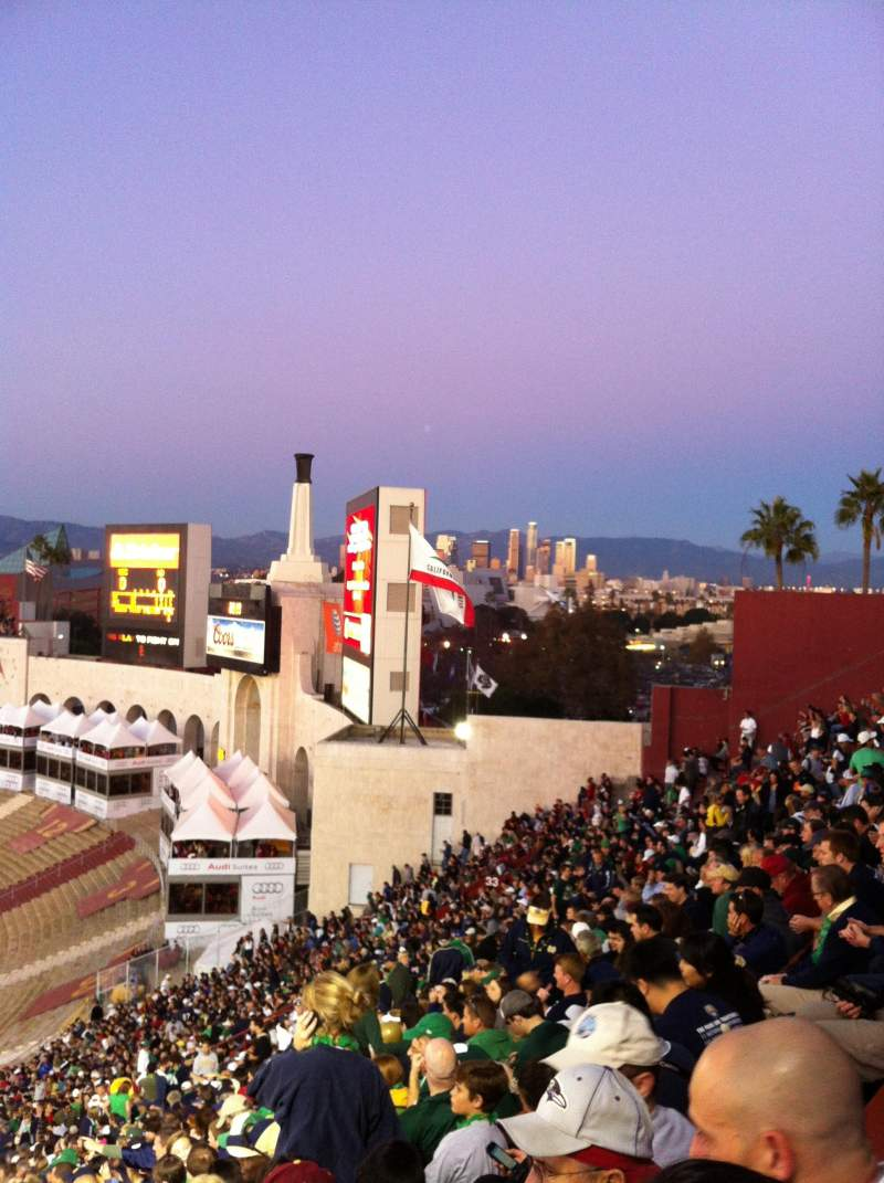 Seating view for Los Angeles Memorial Coliseum Section 2 Row 93 Seat 119