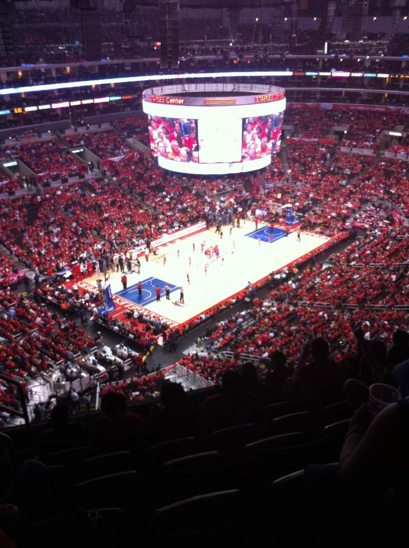 Seating view for Staples Center Section 322 Row 7 Seat 10