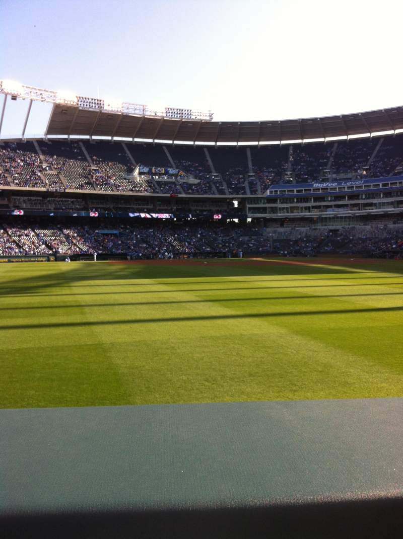 Seating view for Kauffman Stadium Section 103 Row A Seat 3
