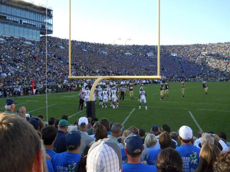 Seating view for Notre Dame Stadium Section 18 Row 7 Seat 14