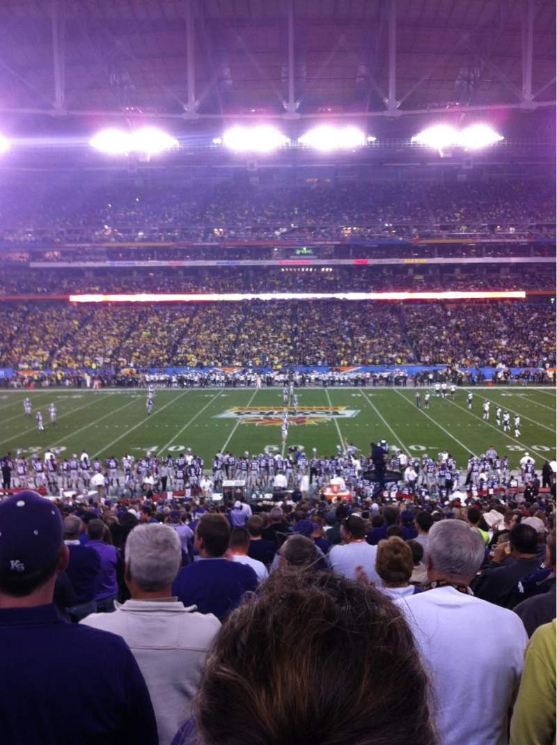 Seating view for University Of Phoenix Stadium Section 129 Row 35 Seat 17