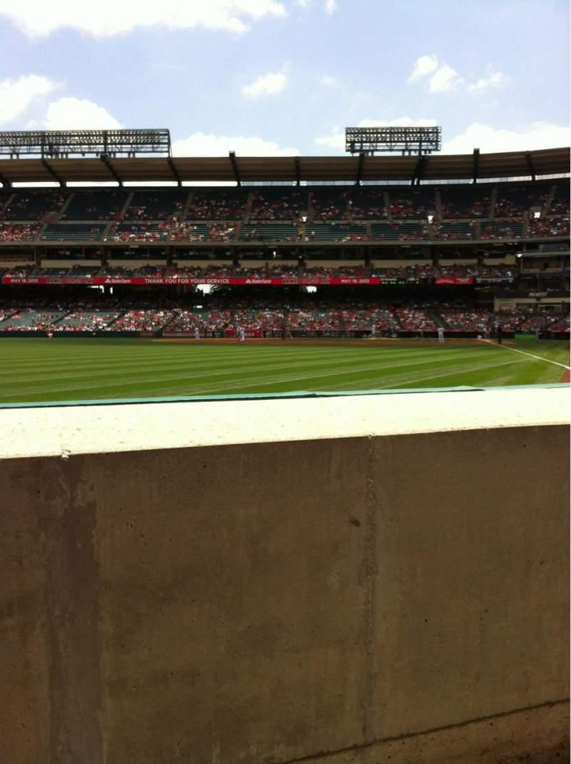 Angel Stadium, section: F102, row: AA, seat: 7