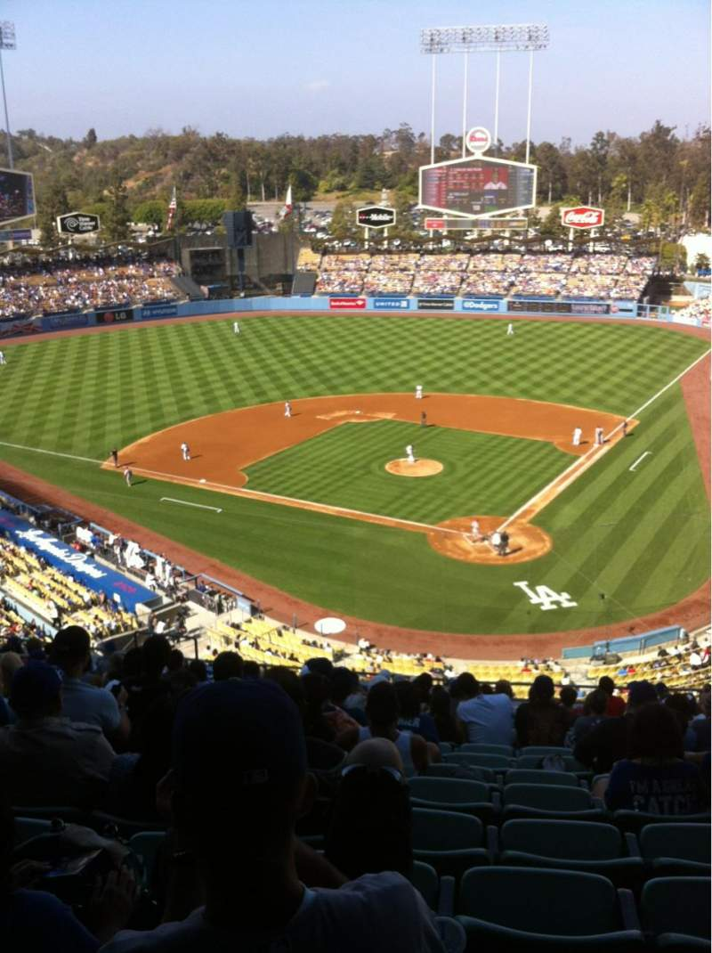 Seating view for Dodger Stadium Section 5RS Row R Seat 12
