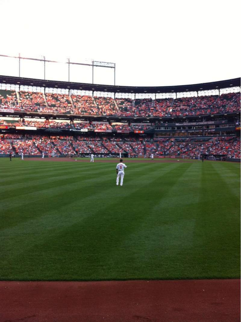 Seating view for Oriole Park at Camden Yards Section 82 Row 1 Seat 11