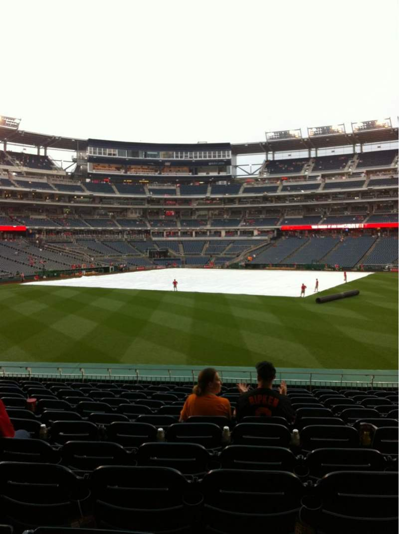 Seating view for Nationals Park Section 142 Row N Seat 17
