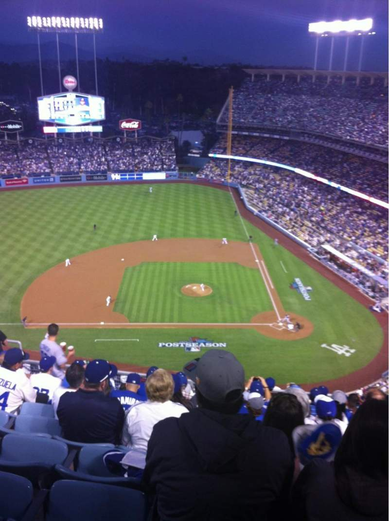 Seating view for Dodger Stadium Section 13TD Row K Seat 12