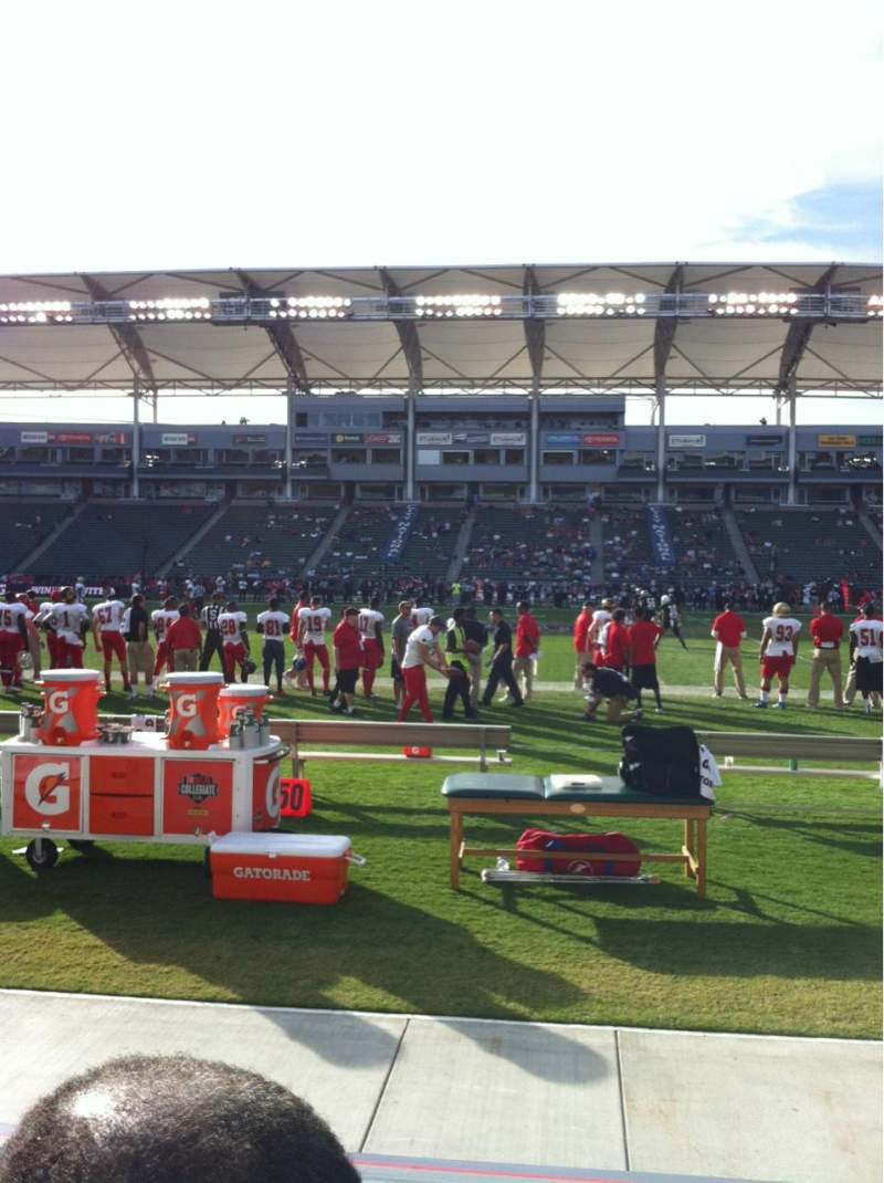 Seating view for Stubhub Center Section 132 Row B Seat 4