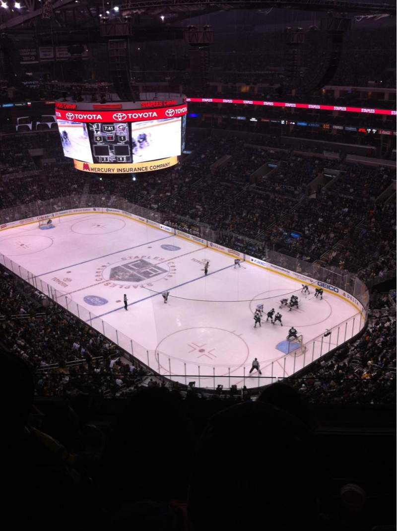 Seating view for Staples Center Section 313 Row 9 Seat 10