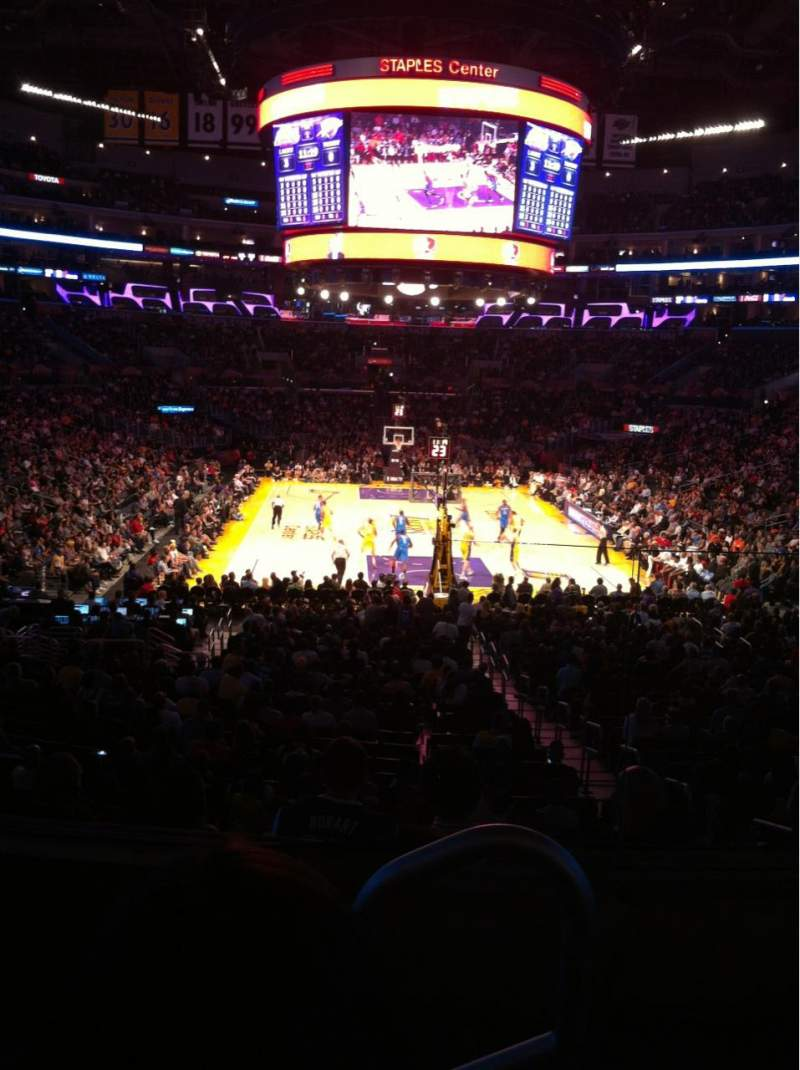 Seating view for Staples Center Section 208 Row 3 Seat 1