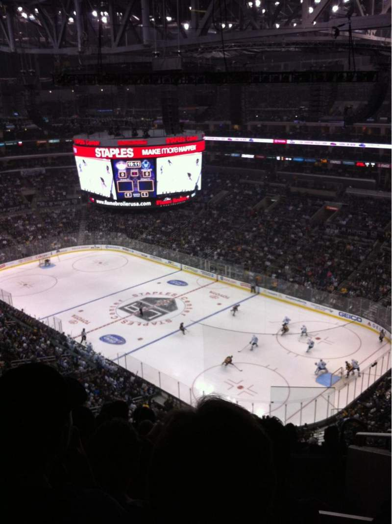 Seating view for Staples Center Section 331 Row 8 Seat 3