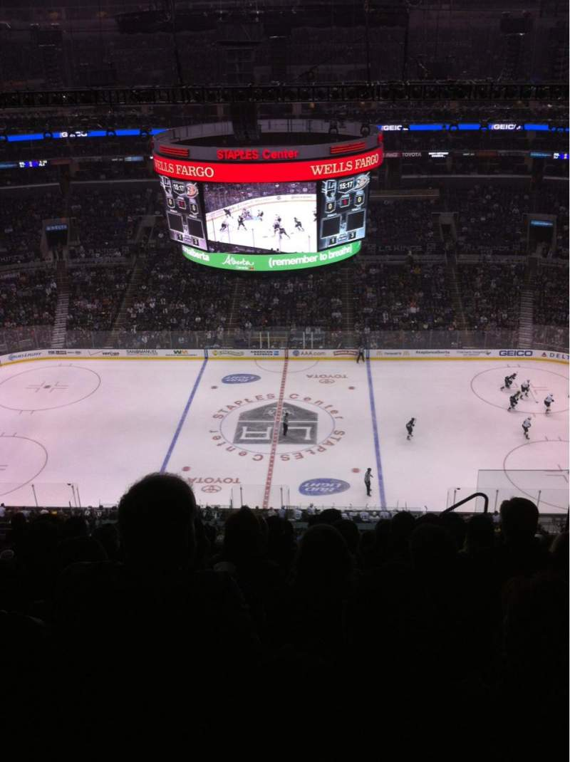 Seating view for Staples Center Section 301 Row 11 Seat 4