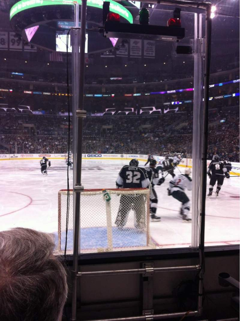 Seating view for Staples Center Section 107 Row 4 Seat 1