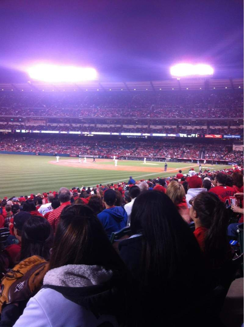 Seating view for Angel Stadium Section 104 Row W Seat 8