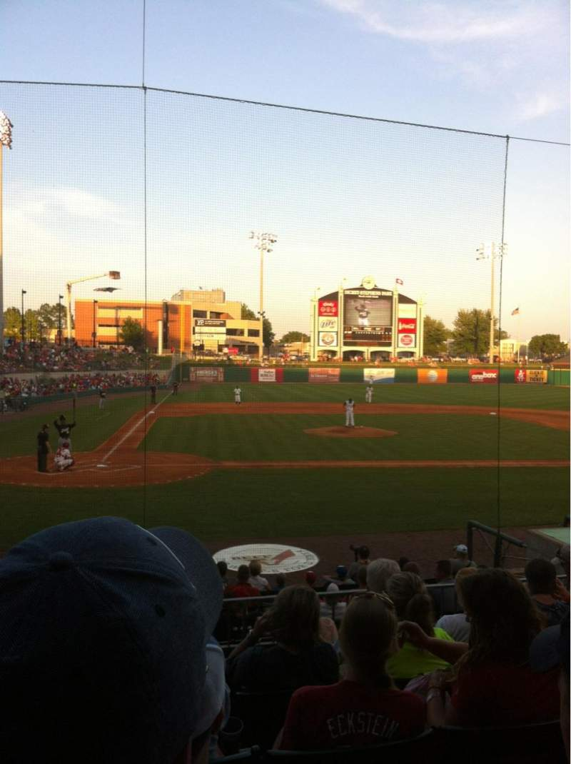 Seating view for Dickey-Stephens Park Section 207 Row F Seat 13