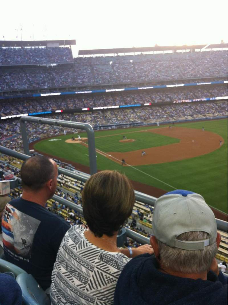 Seating view for Dodger Stadium Section 44RS Row B Seat 4
