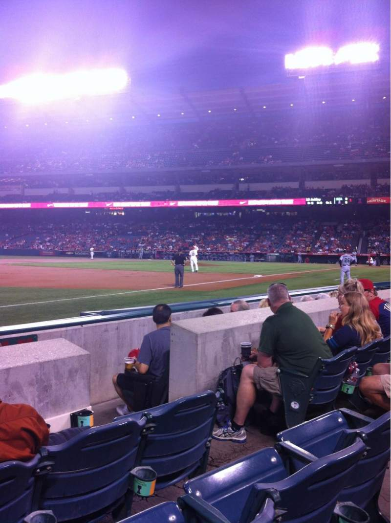 Seating view for Angel Stadium Section F108 Row C Seat 14