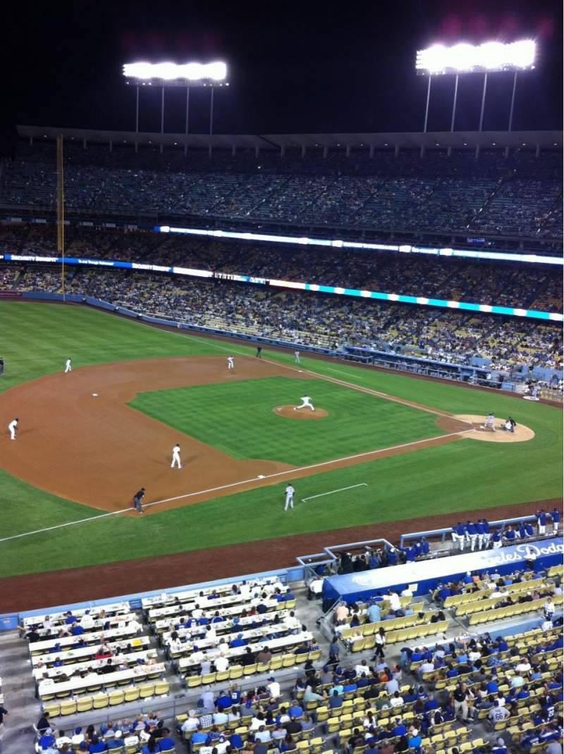 Seating view for Dodger Stadium Section 27RS Row A Seat 19