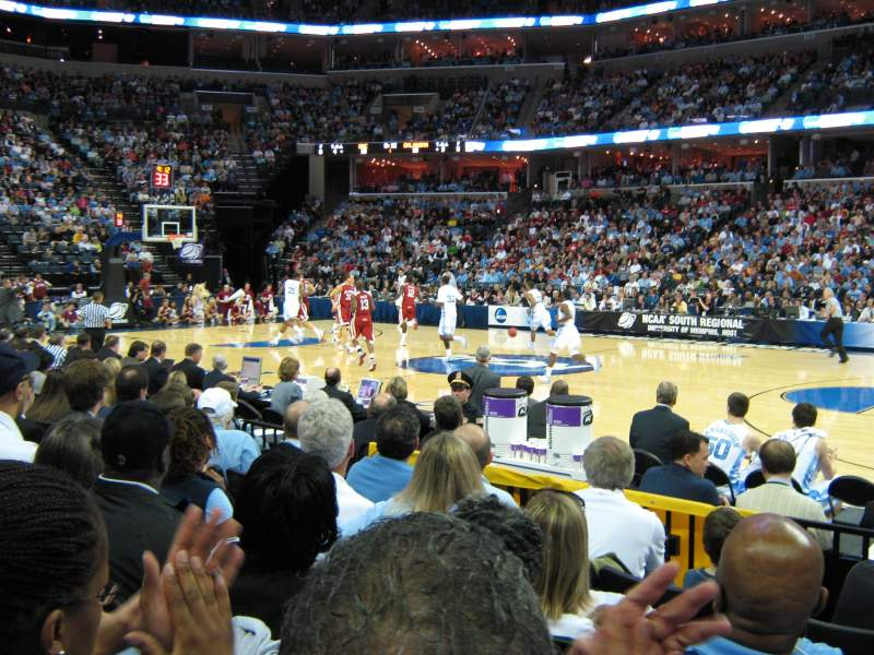 Seating view for FedEx Forum Section 106 Row H Seat 7