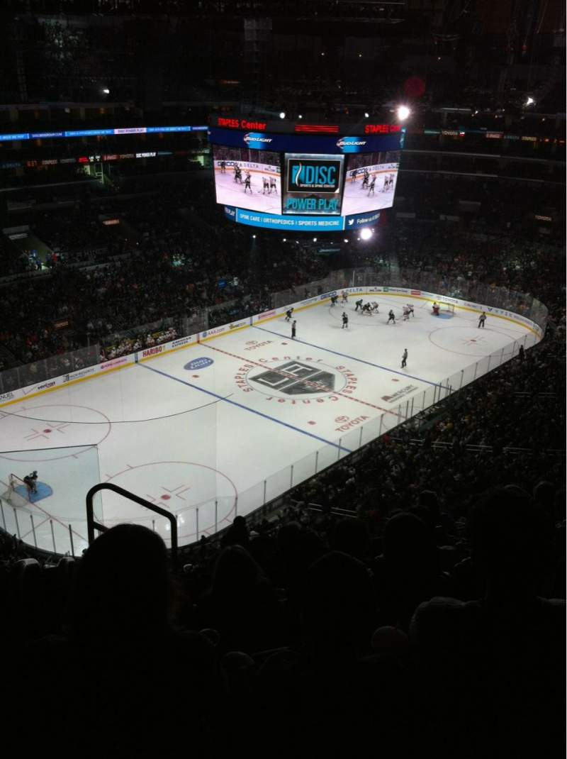 Seating view for Staples Center Section 322 Row 7 Seat 11