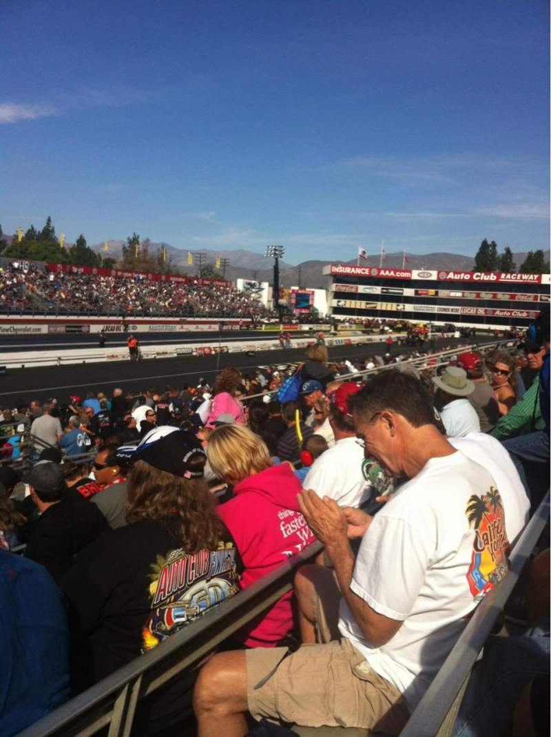 Seating view for Auto Club Raceway At Pomona Section 12 Row 9 Seat 15