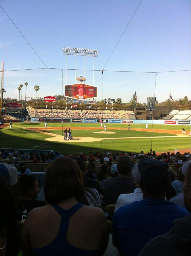 Seating view for Dodger Stadium Section 6FD Row M Seat 2