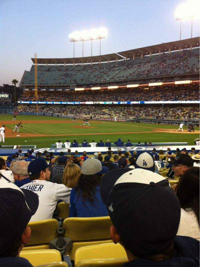 Seating view for Dodger Stadium Section 23FD Row N Seat 6