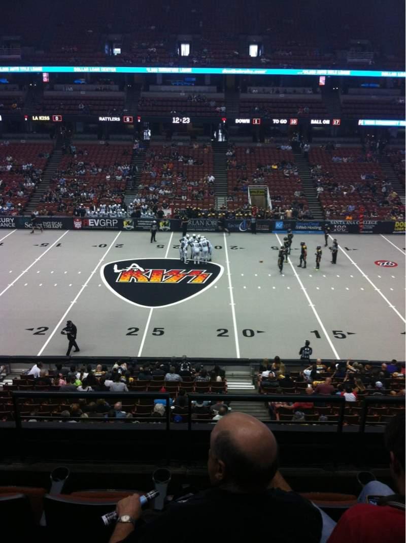 Honda Center, section: 320, row: D, seat: 4