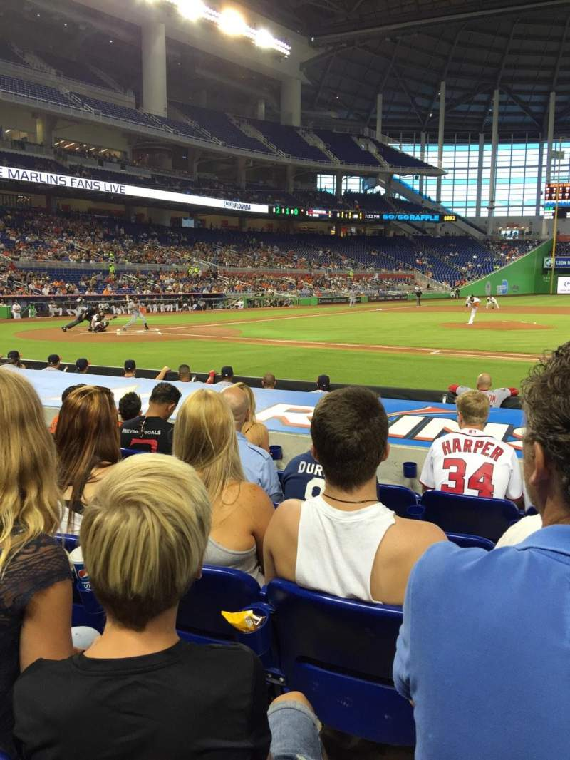 Seating view for Marlins Park Section 9 Row E Seat 1